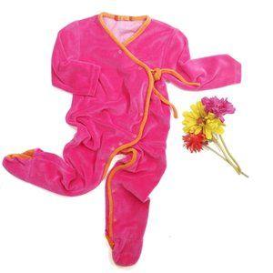 Antoine & Lili Velour Sleeper Pajamas Size 18 M